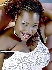 Big Momma Ebony Chick Undressing and Teasing Big Jugs