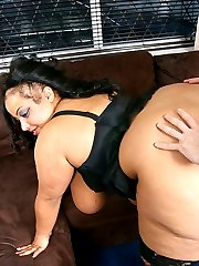 Giant black BBW with an awesome rack delivers happy ending after a massage