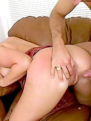 Blonde plumper grinds on top of a stud