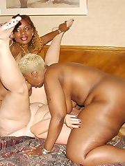 Three big fat booty girls two black one white