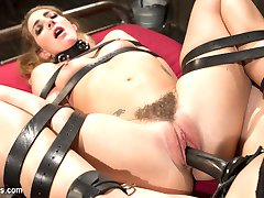 Submissive babe Savannah Fox crawls into Mistress Chanel Prestons dungeon eager to serve. The...