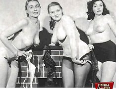 Real vintage topless girls