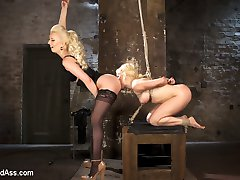 Mistress Cherry Torn keeps her porn star slut, Nikki Dilano, chained in her basement to be used...