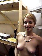 Blonde amateur and her boyfriend make a homemade sex video