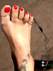 Dragonlily returns to Wiredpussy for more bondage, electricity, foot torture, foot worship, and...