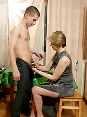 Lady feels the power of a young dick