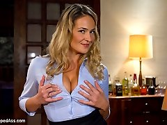 Sexy MILF, Elexis Monroe gets a taste of her own medicine when shes invited to her employee Sinn...