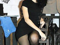 Open legs and show nude nub upskirt