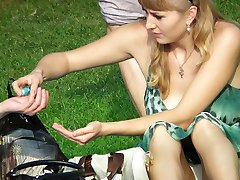 Sexily dressed girls weekend upskirt