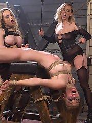 Dominatrix legends Maitresse Madeline and Aiden Starr unleash their cruelest impulses to haze...