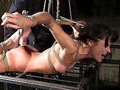 French Bondage Porn Slut Cecilia Vega Forced to Orgasm at the Hands of Ian Rath