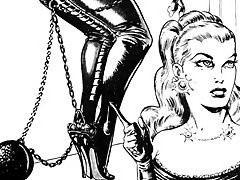 Busty women in latex bondage
