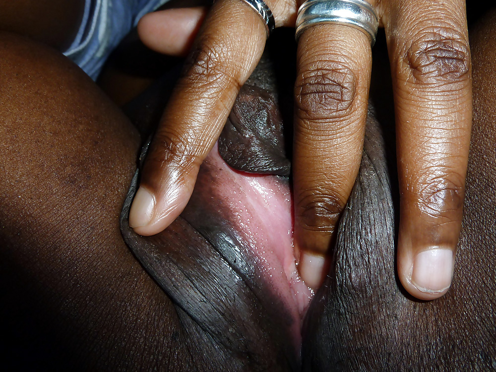 Petite Black Girl Masturbating