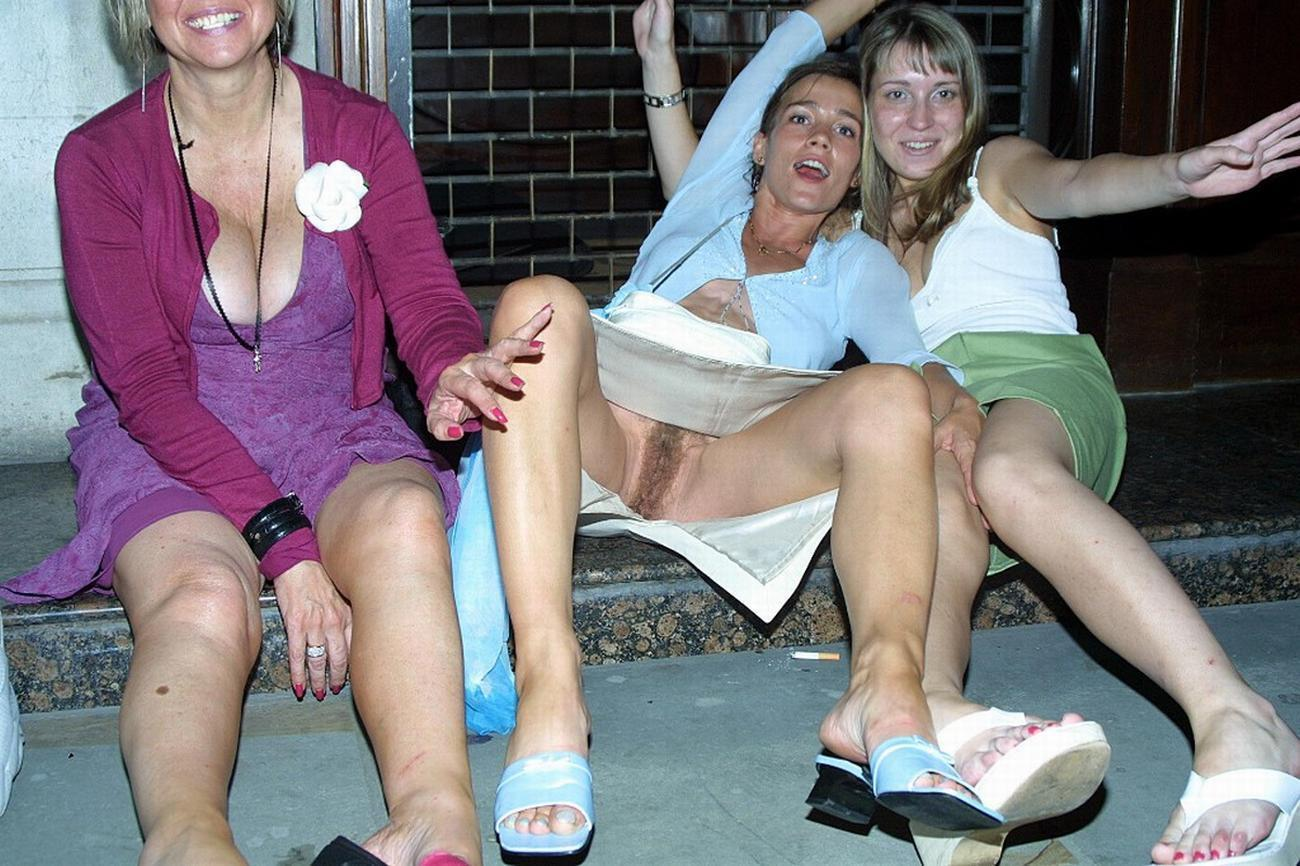 Means drunk girls upskirt no panty