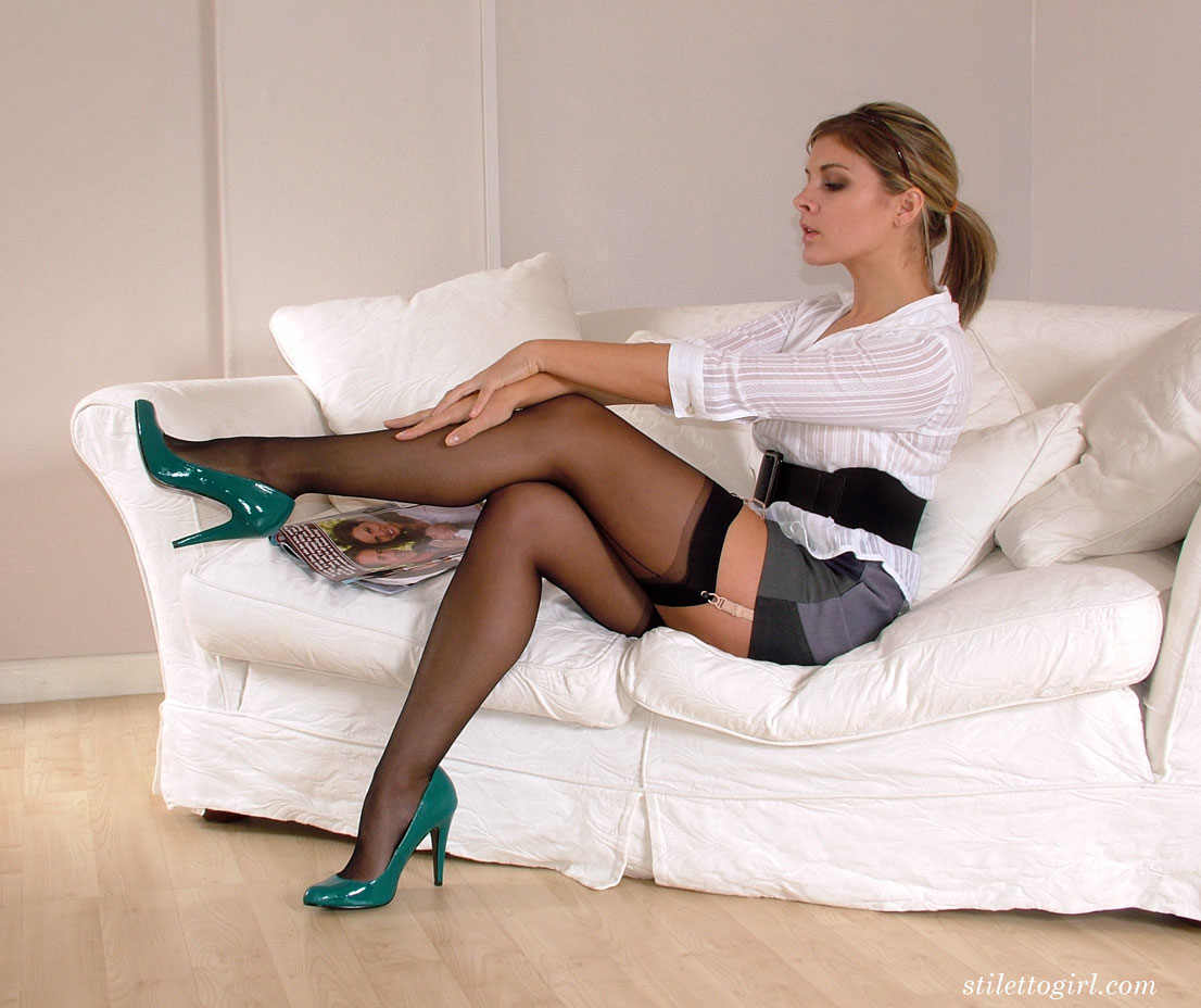 Black High Heels Stocking
