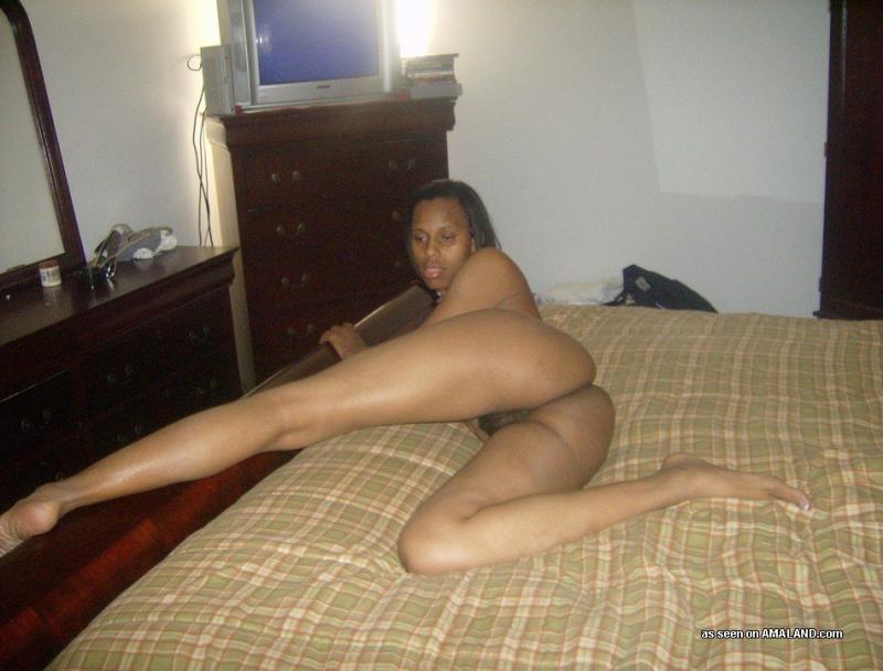 Sexy flexible ebony naked