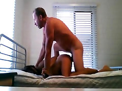 Hardcore kising the body and moaning