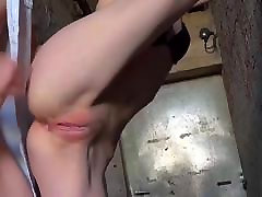 Anal naked amateur in office in standing position