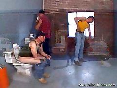 Kinky workers fucking in toilet