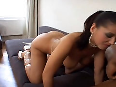 Brunette Takes Big Black Cock In Her Ass