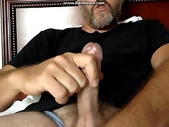 hot hairy dad blows big load