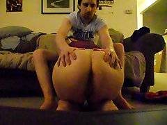 chubby ex girlfriend stops over for some dick