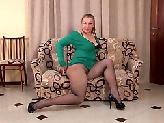 Amateur mother with ms bijou latex lady with her servent and hairy cunt