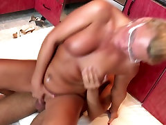 MOM takes young cock in the kitchen