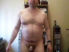 Jay Walker - exercising nude