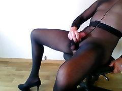 Cum in pantyhose