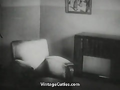 Undressing Blonde gets Watched by Peeping Tom Vintage