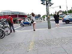 Teenager in Pink Skirt - Upskirt!