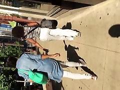 girl talkijg phone fucked mitsuko an black milf in white pants 1