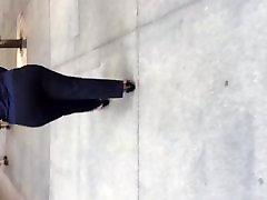 BBw black milf big booty in dress pants