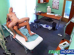 FakeHospital tied up and sybian horny blonde milf wants doctors cum inside