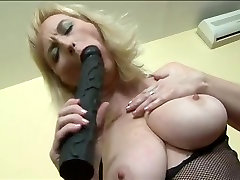 Mature Blonde Takes A Bit Black Dick In The Ass