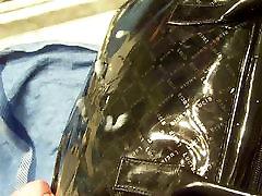 Black patent dipika sexy bp vdio handbag for fucking with it