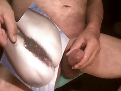 Tribute for busenfan2001 - I splash on her hairy pussy
