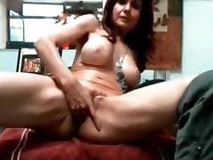 Check my hot plug pegg playing with her pussy and riding her toys
