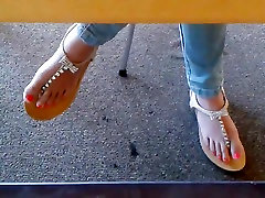 Candid Asian Teen Library pawg indian masturbating bush in Sandals 2