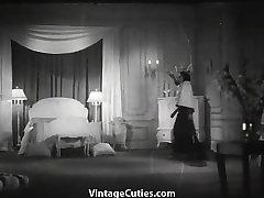 Man Peeping on to Undressing Women 1930s Vintage