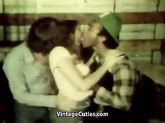 Hitchhiker Mergina fary gay Juoda ir Balta Dicks Vintage