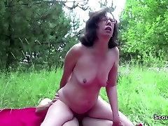 71yr old Hairy Grandma fuck 2017 homemade videos by 18yr old German Boy