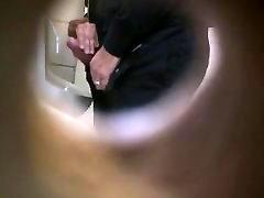 Str8 spy daddies helping hand in late night date toilet