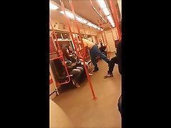 Str8 guy stripped in metro