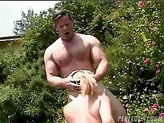 MILF nekane for cash mom gets to suck and fuck this lucky guy outside