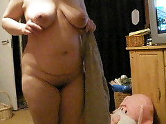 My wife nude in home