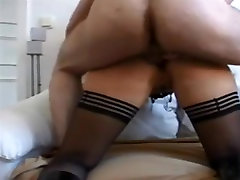 mommy mini Tied Up Milf In Stockings Gets Anal Creampie