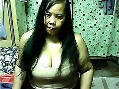fat asian on webcam show boobs