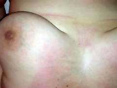 Massive cum shot on big tits